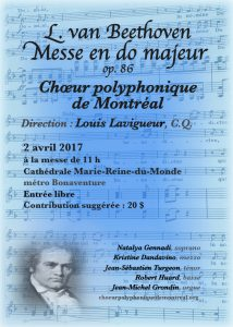 MESSE EN DO MAJEUR DE L. van BEETHOVEN