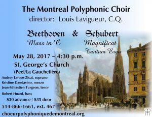 Beethoven & Schubert – May 28, 2017 – 4:30 p.m.