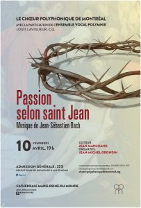 St. John Passion – CANCELLED OR POSTPONED